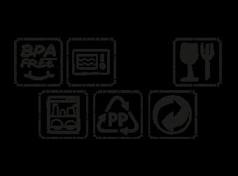 symbol mikrowellengeeignet kunststoff